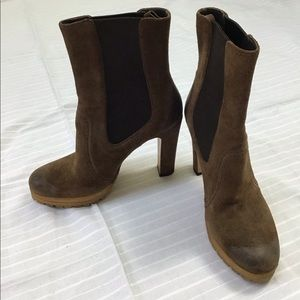 PRADA SUEDE ANKLE BOOTIES